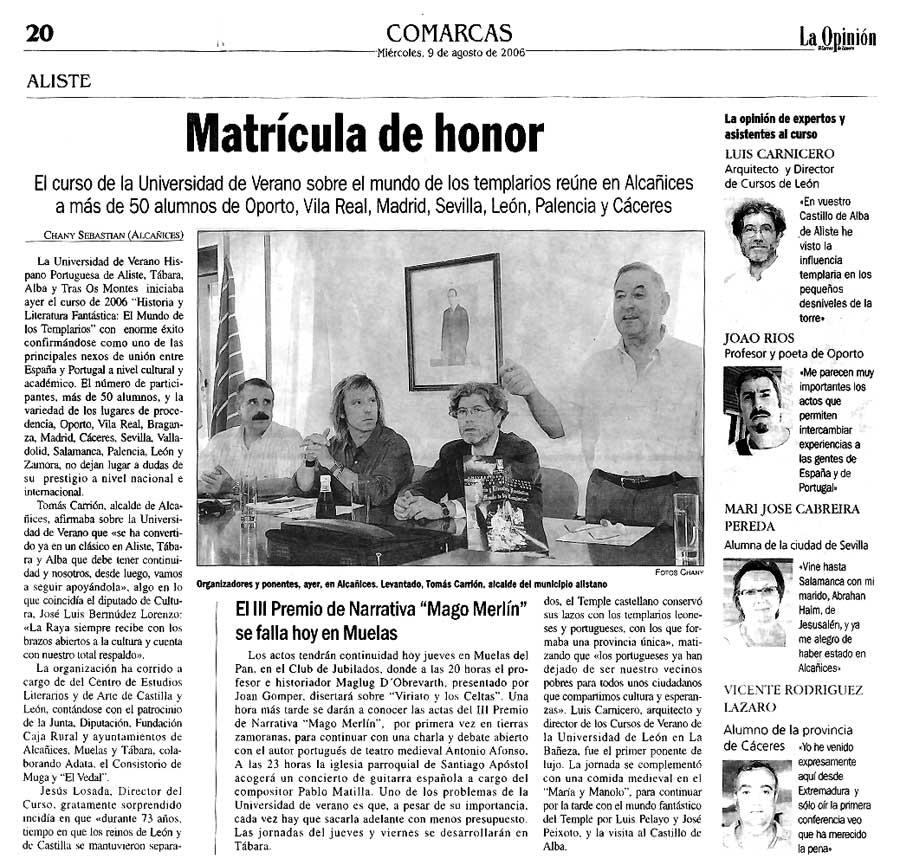 LA OPINIÓN DE ZAMORA: JORNADAS HISPANO PORTUGUESAS 2006