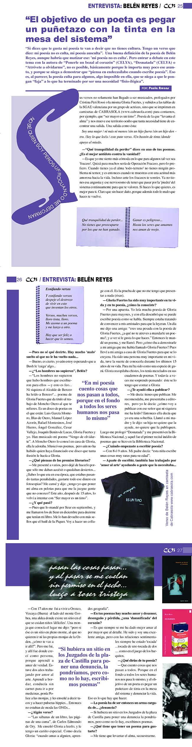 CO3 REVISTA: Belén Reyes, por Paula Arenas.