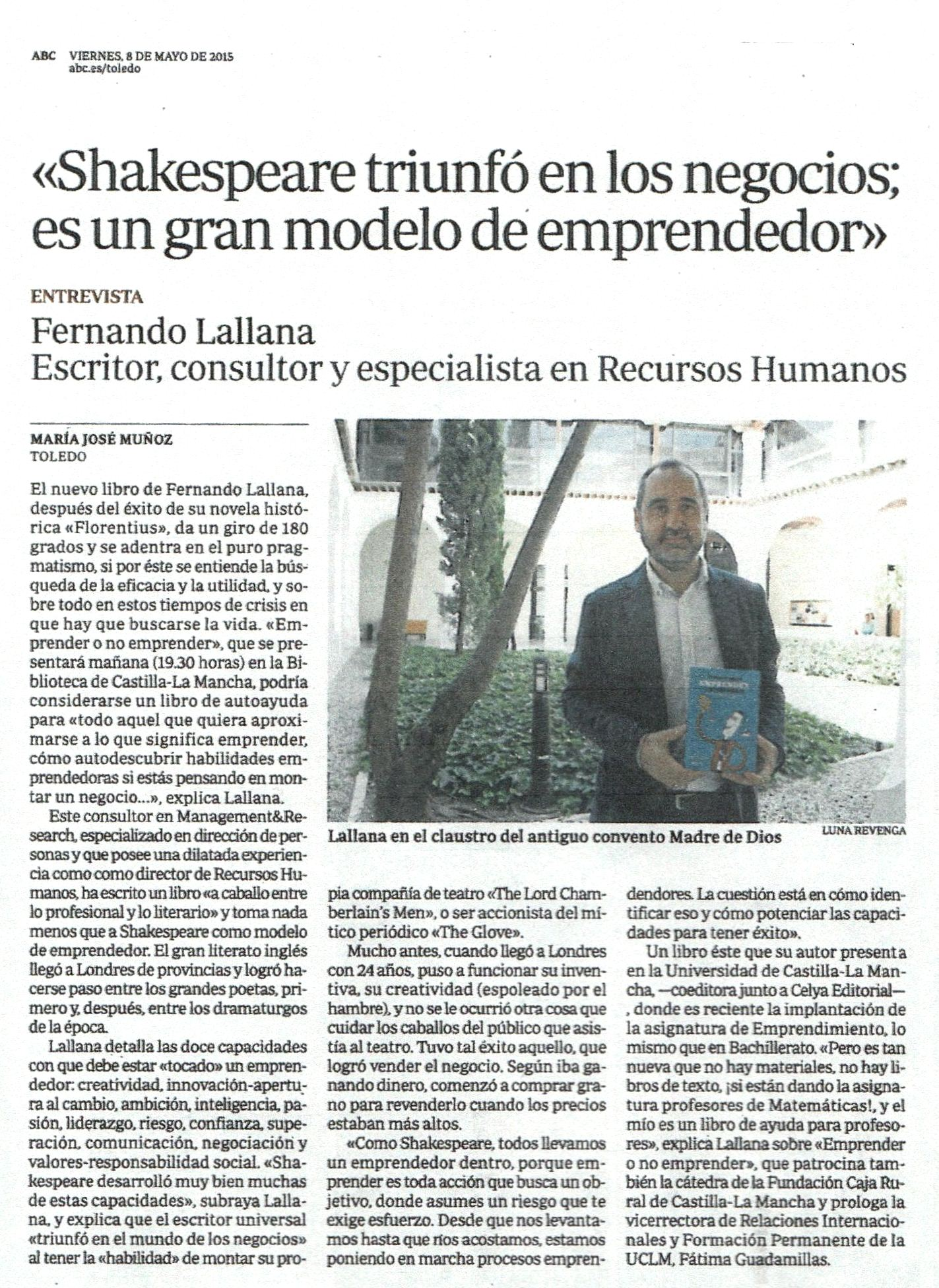 ABC : Emprender o no emprender, por Mª José Muñoz