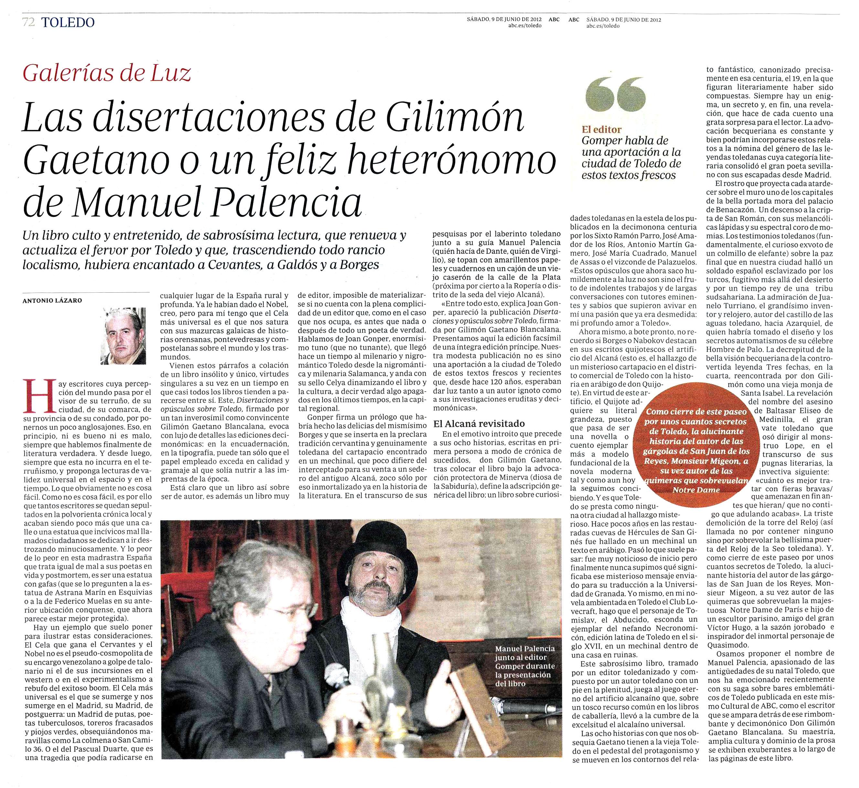 ABC de las Artes y las Letras : Disertaciones y opúsculos, por Antonio Lázaro.