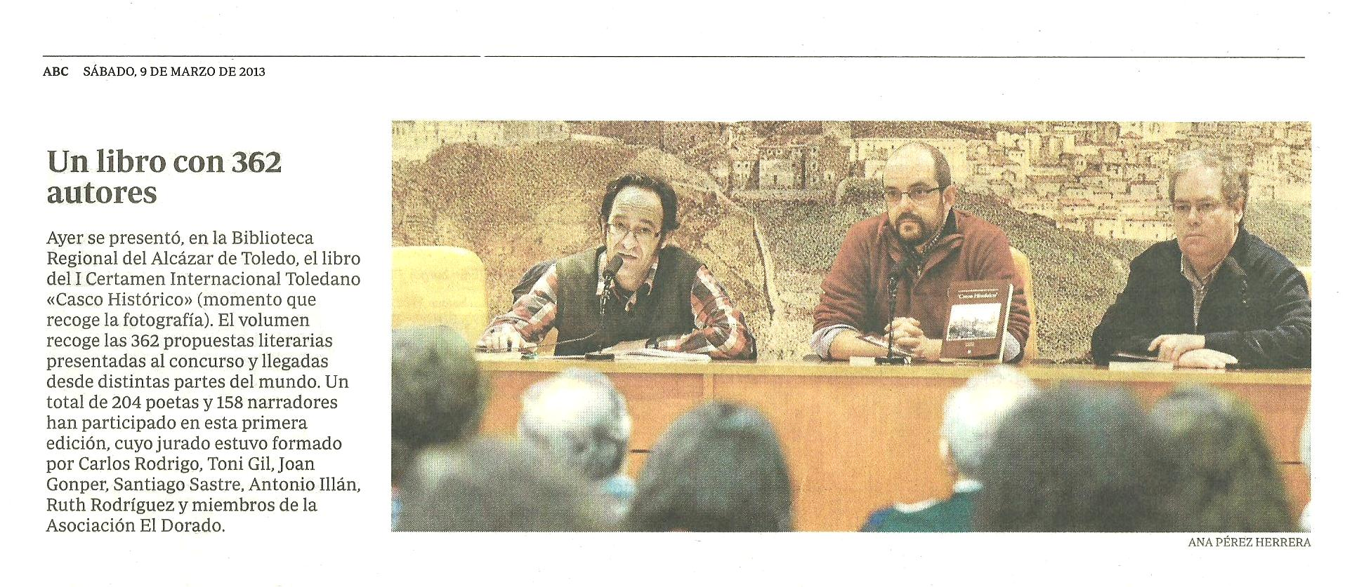 ABC : Presentación del libro Antología 'Casco Histórico' de Toledo.