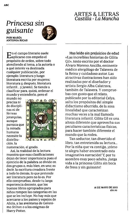 ABC : Las increíbles aventuras de Gilita Gil, por Mª Antonia Ricas.