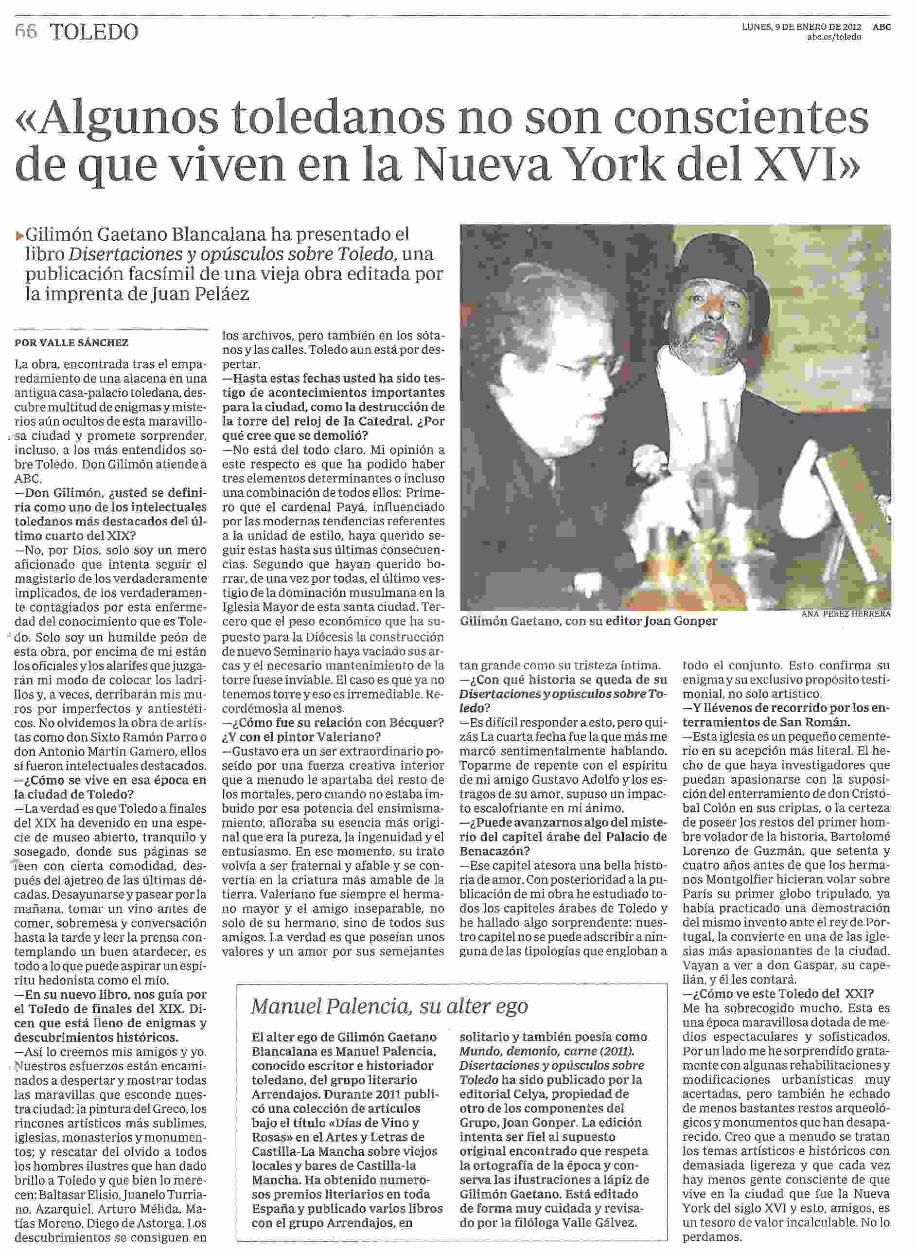ABC: Sobre Gilimón Gaetano Blancalana.
