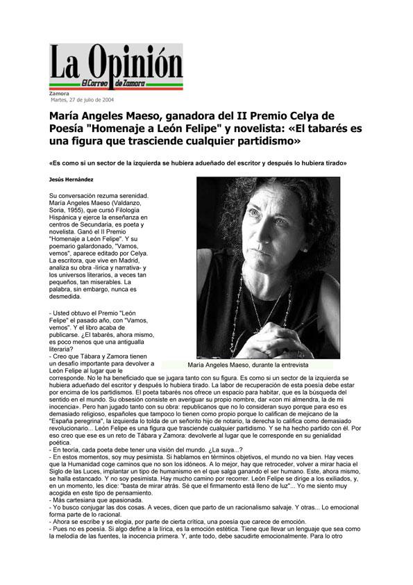 LA OPINIÓN DE ZAMORA: II Premio CELYA  de Poesía