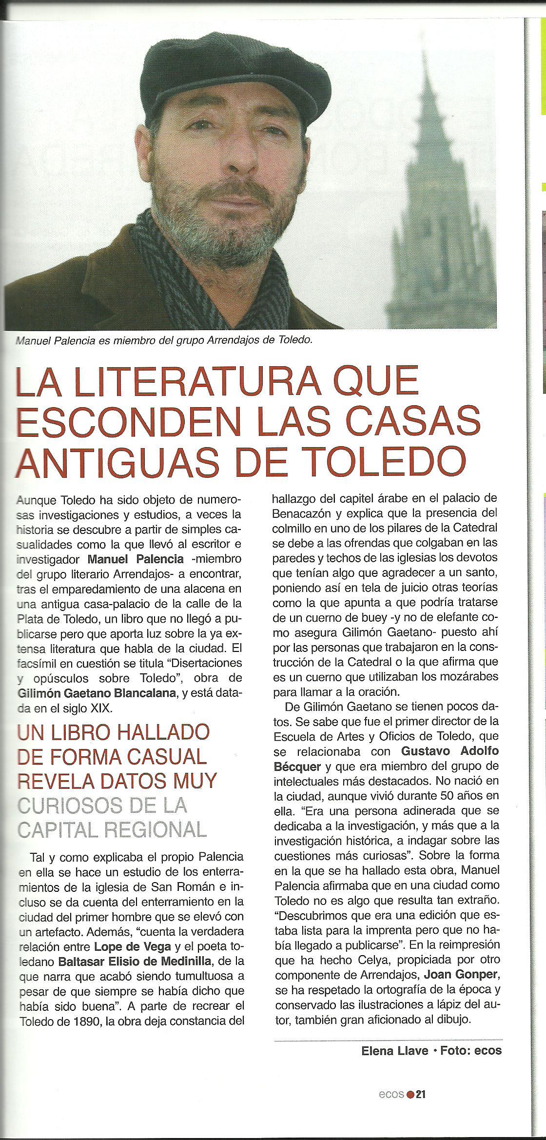 ECOS: La literatura que esconde Toledo.