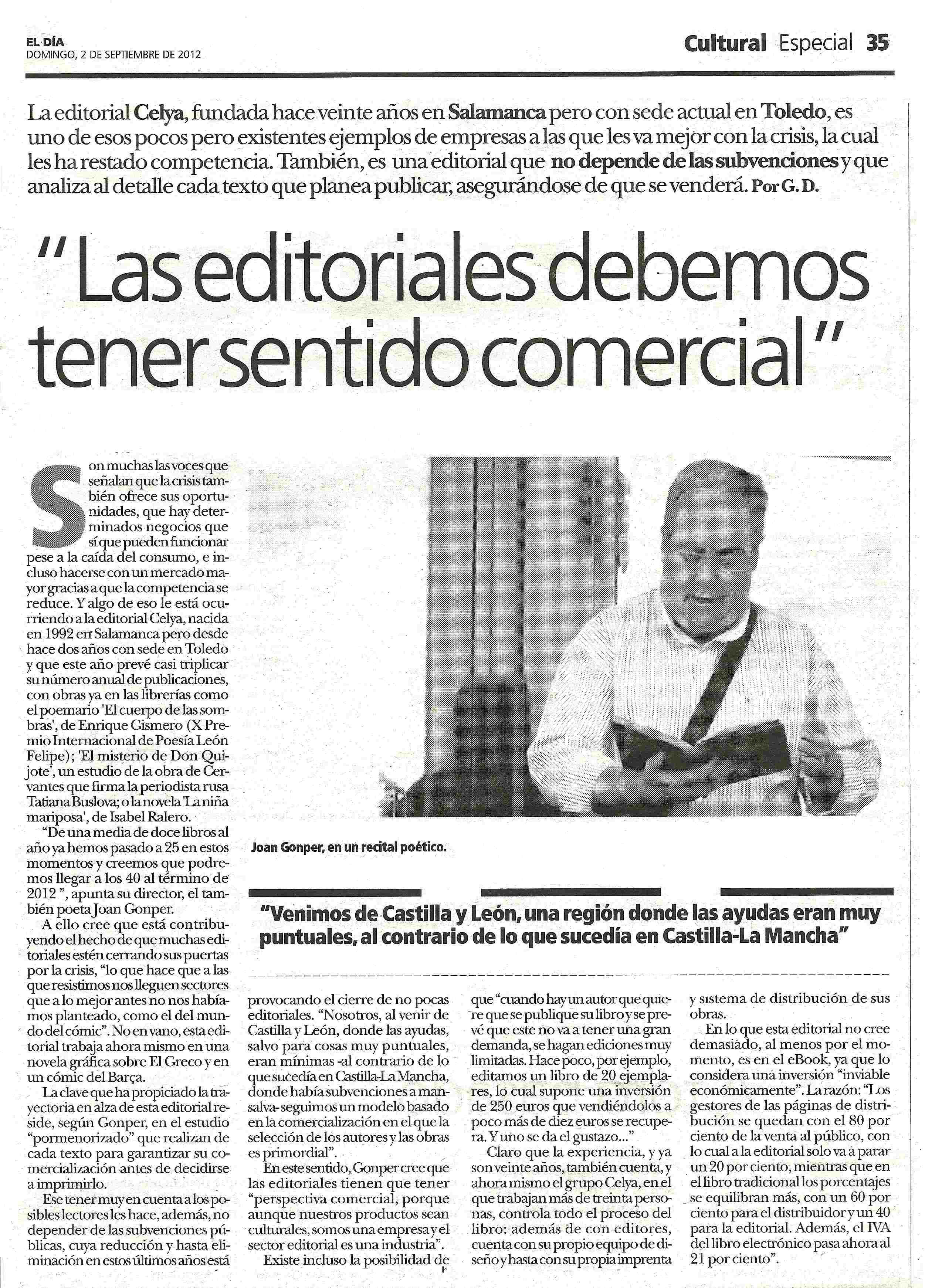 EL DIA DE CASTILLA LA MANCHA : Sentido comercial. Por Gorka D.