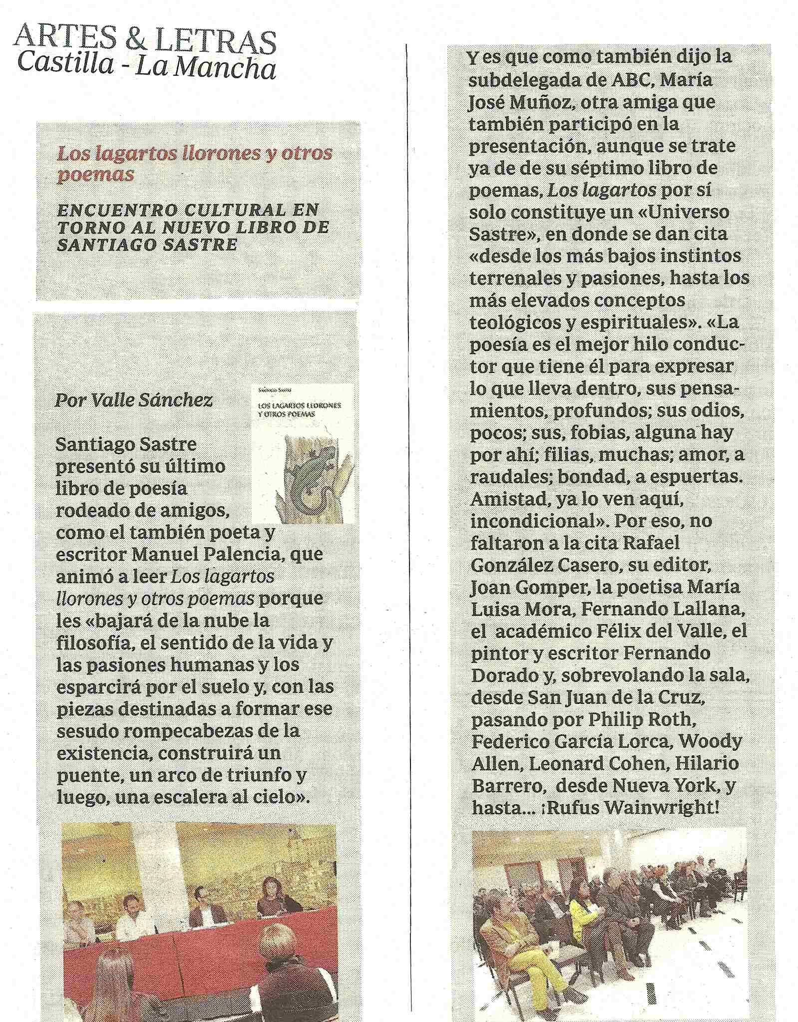 ABC : Los lagartos llorones, por Valle Sánchez.
