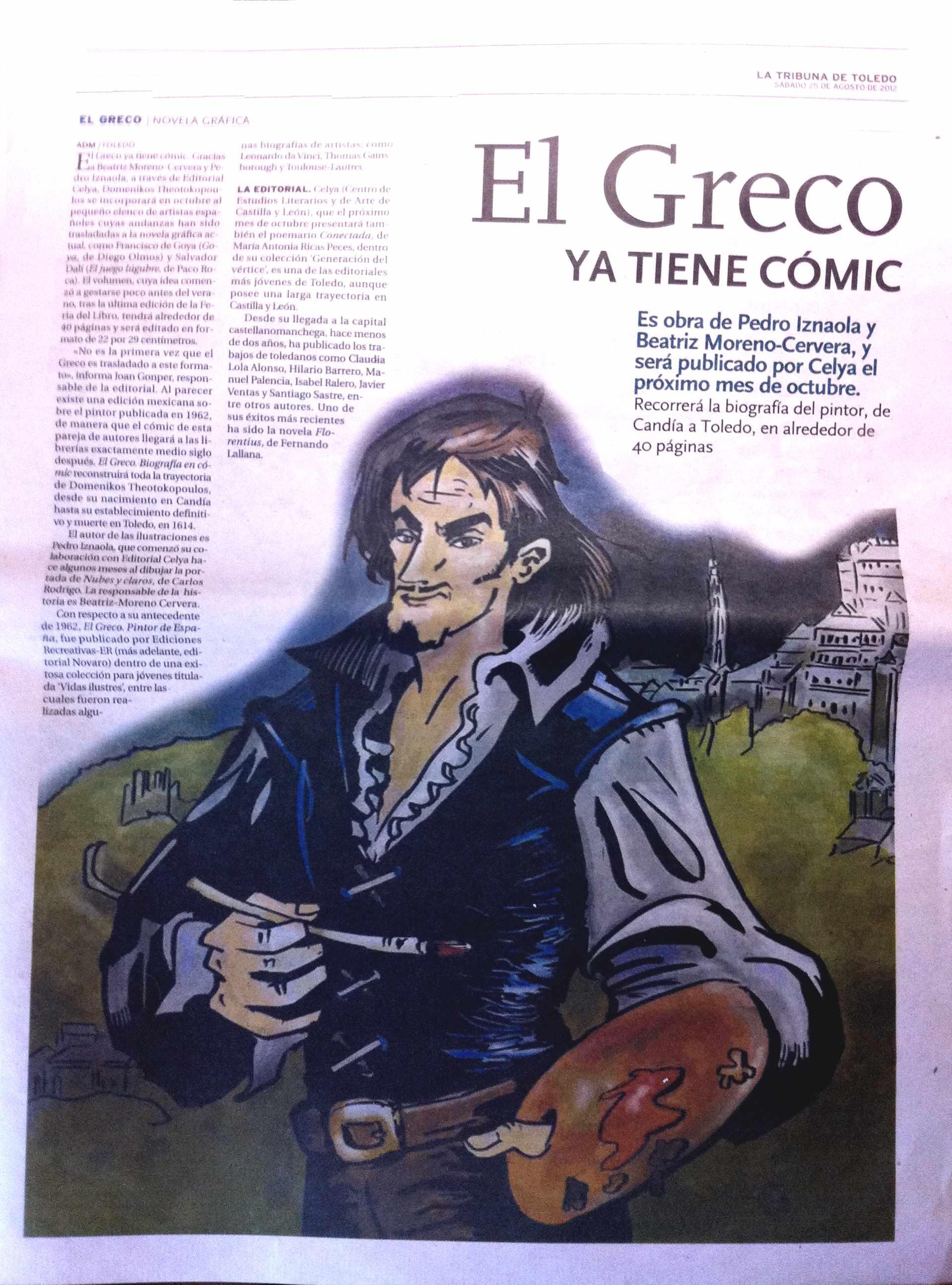 LA TRIBUNA DE TOLEDO : EL GRECO. Novela gráfica.