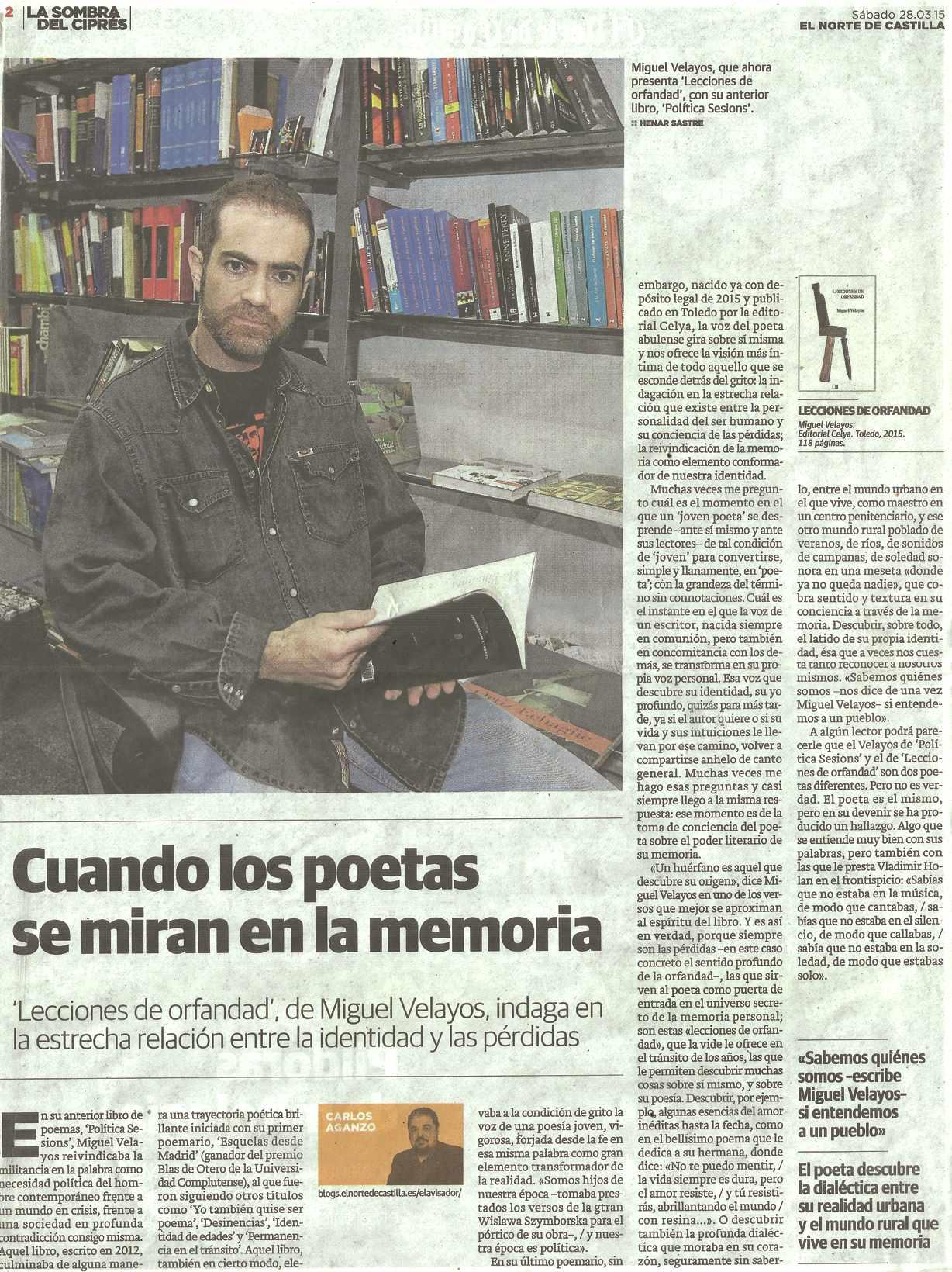 EL NORTE DE CASTILLA : Lecciones de orfandad, por Carlos Aganzo