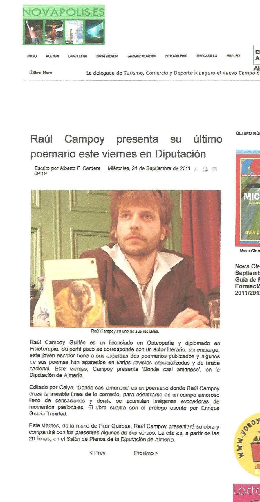 NOVAPOLIS: Raúl Campoy en la Diputación de Almería.