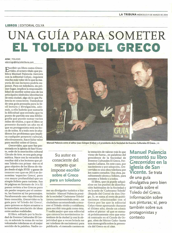 LA TRIBUNA : Presentación de la guía EL GRECORRIDO.