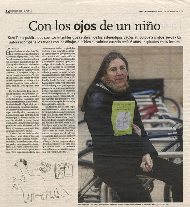 DIARIO DE BURGOS: Una aguja y un dedal... de Sara Tapia.