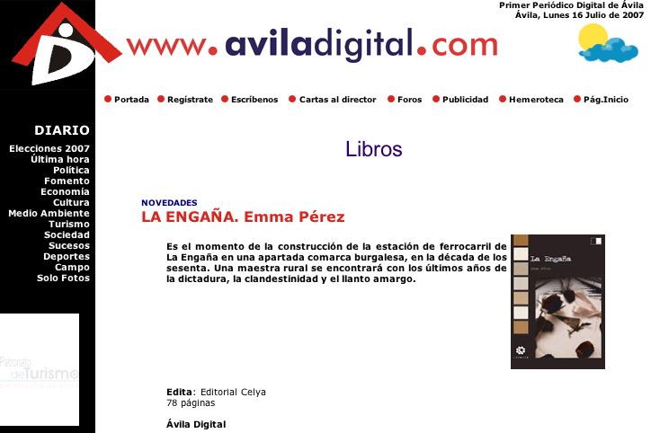 AVILA DIGITAL: Mordiscos, de Emma Pérez