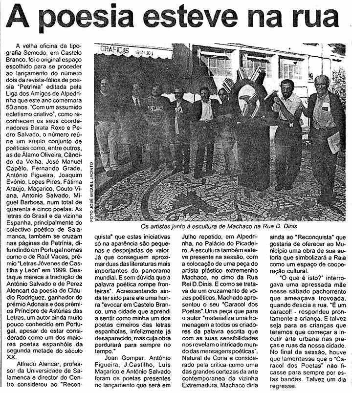 RECONQUISTA -CASTELO BRANCO-: LA POESÍA ESTÁ EN LA CALLE