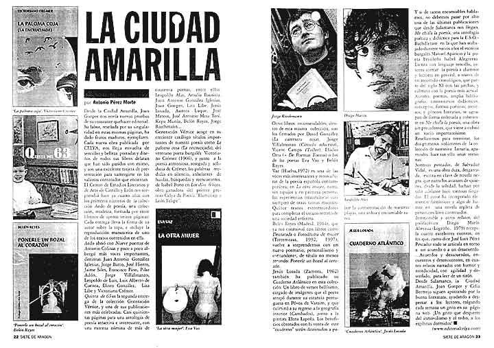 SIETE DE ARAGÓN: La Ciudad Amarilla, por Antonio Pérez Morte.