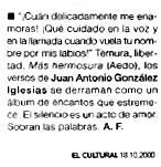 EL CULTURAL: GONZÁLEZ IGLESIAS en la Colección Aedo.