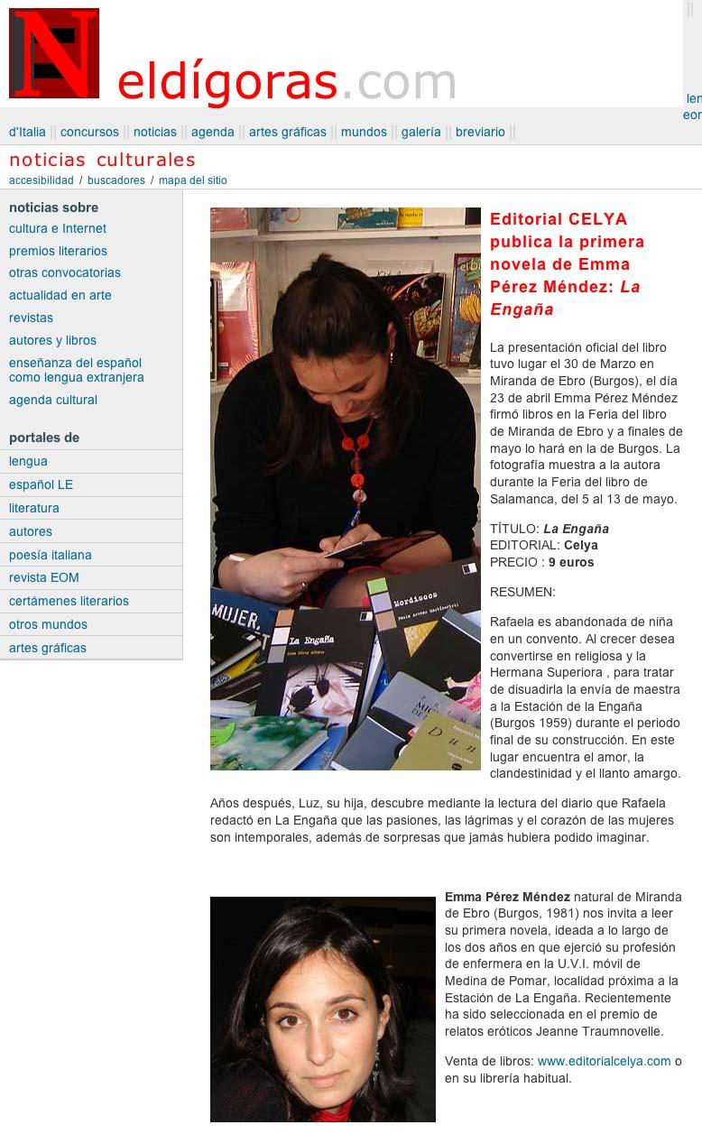 "ELDÍGORAS: Sobre Emma Pérez y ""La Engaña""."