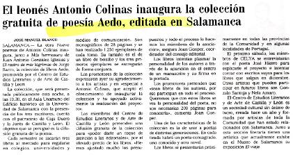 EL MUNDO: Colinas inaugura la Colección Aedo.
