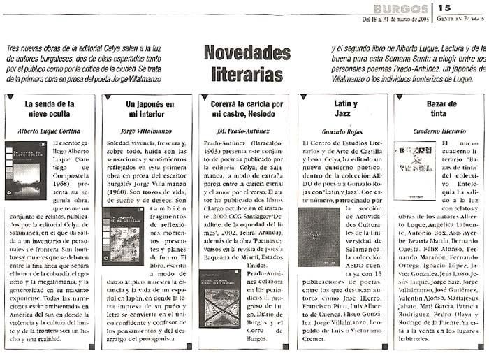 GENTE EN BURGOS: Editoriales y escritores en Burgos.