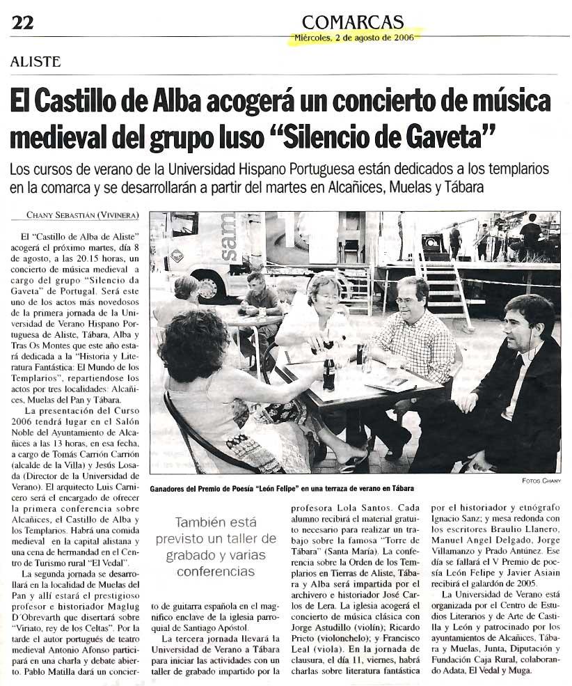 LA OPINIÓN DE ZAMORA: Jornadas Hispano-Portuguesas 2006