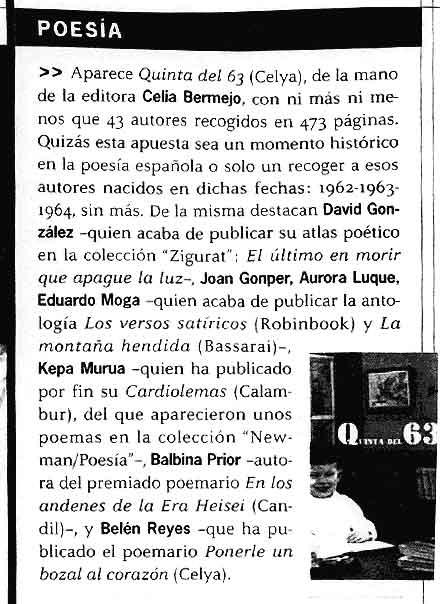 QUÉ LEER: La Quinta del 63 por Enrique Villagrasa.
