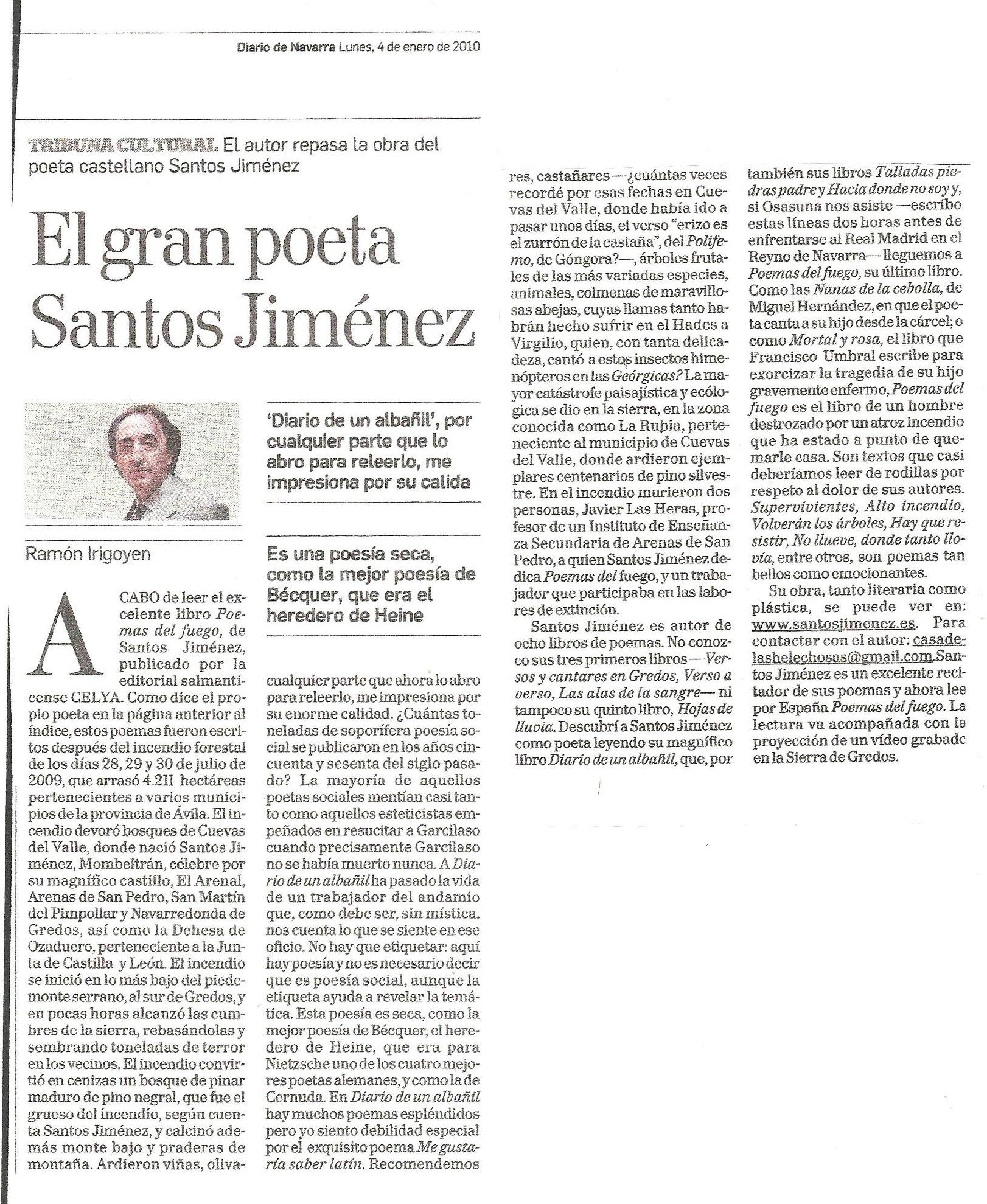 DIARIO DE NAVARRA: Tribuna cultural de Ramón Irigoyen.